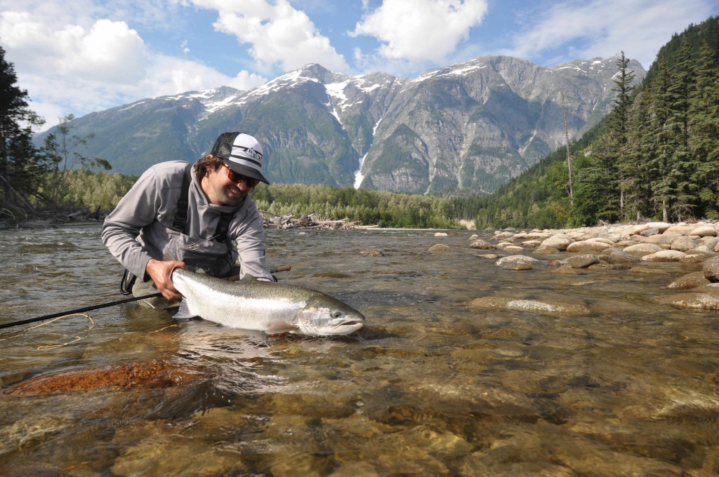 Jeff Hickman on Lower Dean at Kimsquit Bay Lodge.