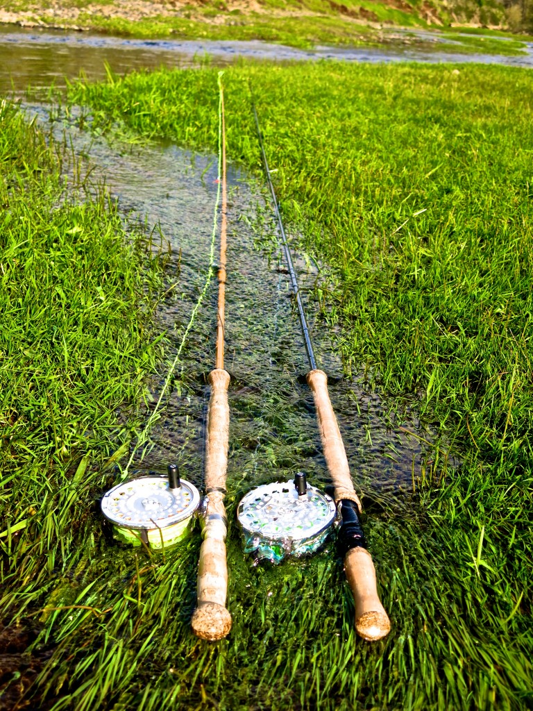 Echo Glass Two Hand and Dec Hogan II Spey rods on the Nestucca River.