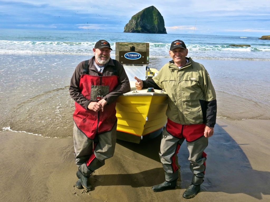 John and Jack Harrell of Pacific City Fly Fishing.