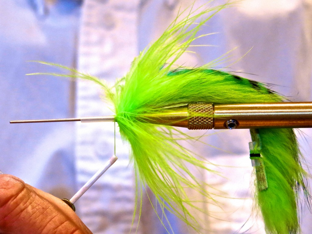 Add a few turns of Marabou, color of your choice.