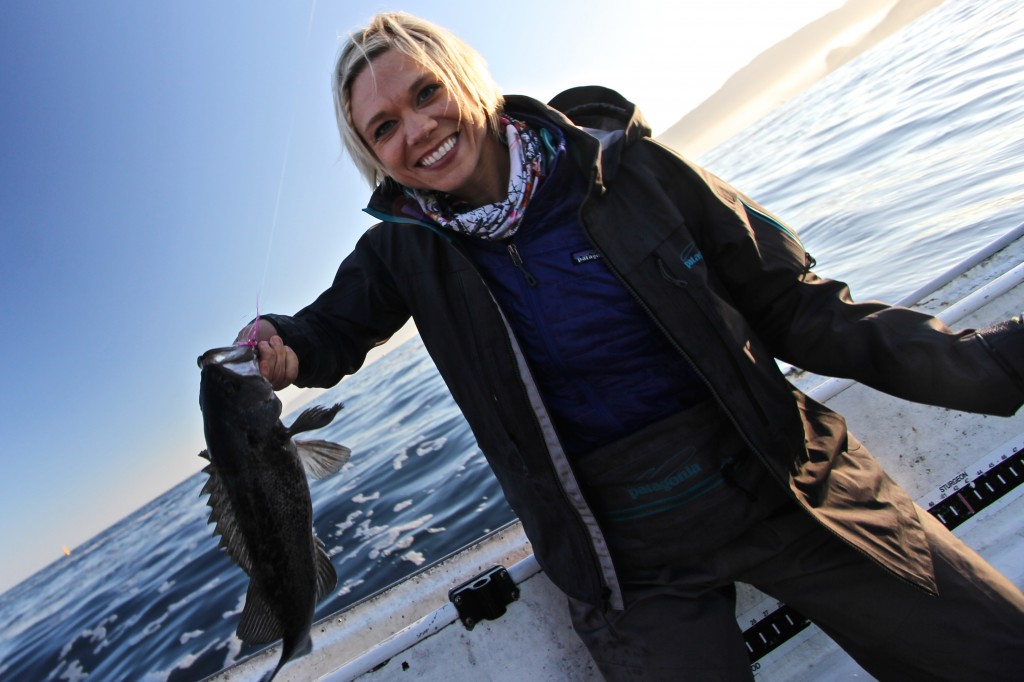 Julie & Pacific black rockfish.