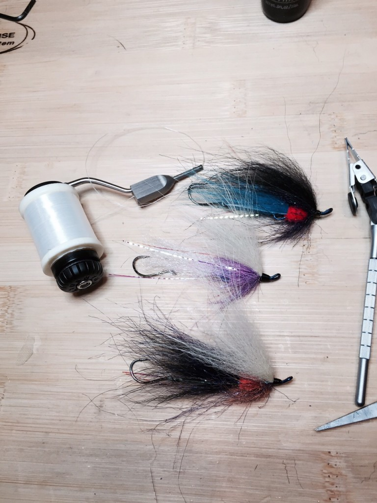 Unweighted winter steelhead swing flies.