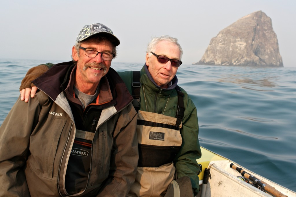Frank Amato Joined me last year (2015) and had a great time dory fly fishing at Pacific City.