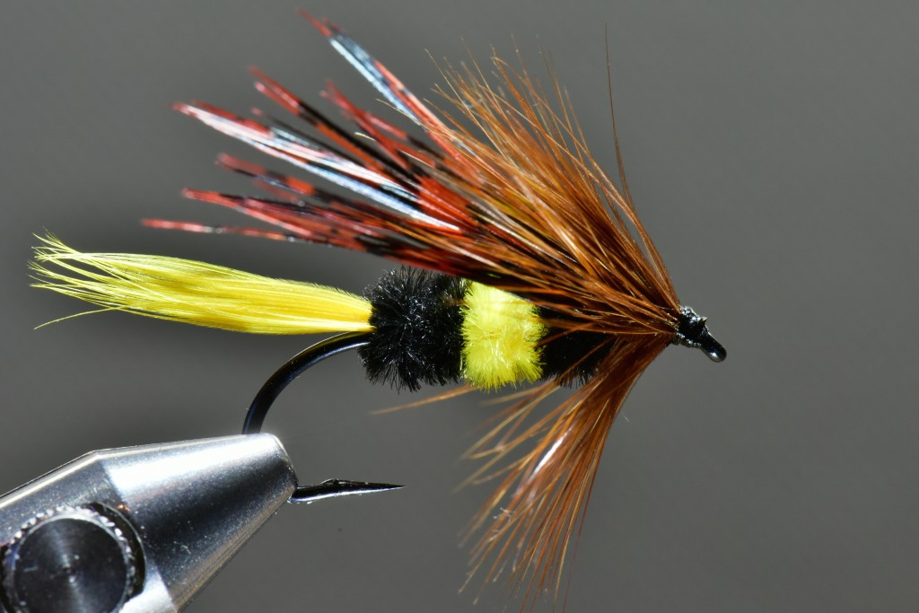 """I'm working on a new book, this title will be on Sea-run cutthroat flyfishing and flies. Here is a """"bee"""" fly from the draft."""
