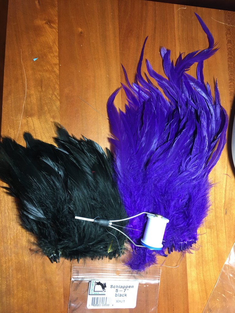 "Comparing the Schlappen feathers in two packages of 5"" - 7"" feathers."