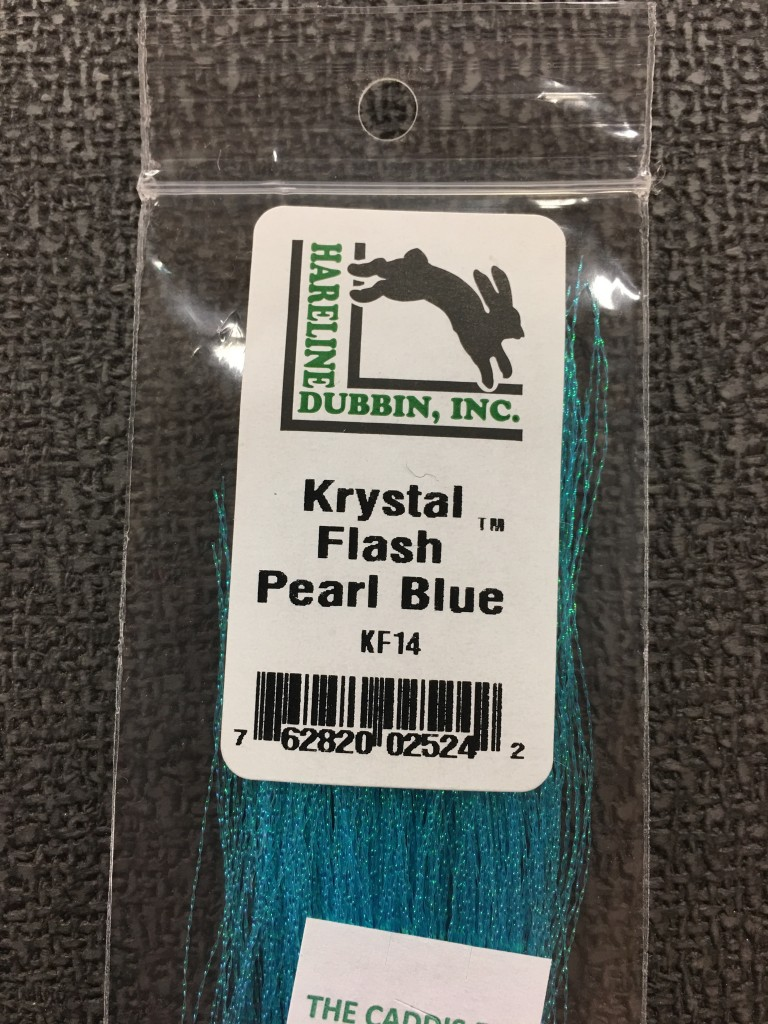 Krystal Flash also offers great options in over 40 colors to add flash to our fly wings.