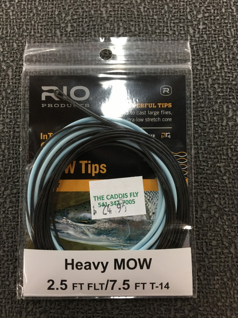 "RIO MOW tips come in  versions that include a floating tip as well as a wide range of sink rates and combinations of floating, Intermediate, and sinking sections in the tip. The tip pictured here has a 2.5 ft floating butt with a 7.5 ft tip that sinks at 8-9"" per second."
