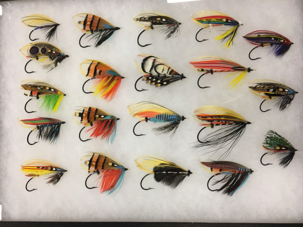 Amazing full dress Atlantic salmon flies.