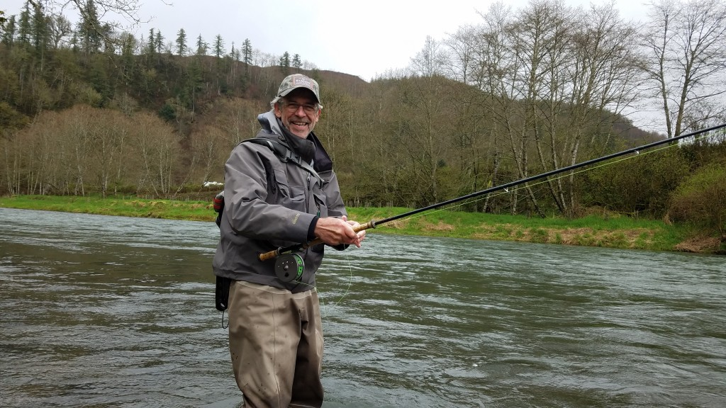 Jay is having some fun here during winter steelhead season.