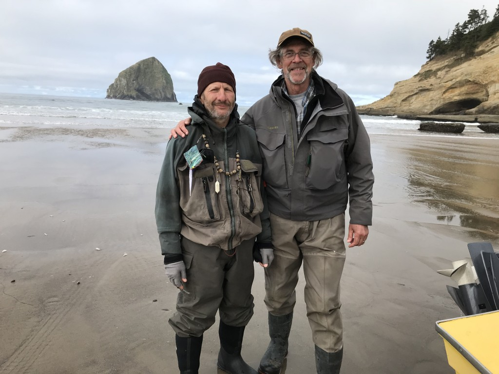 Mikhail Skopets and Jay at the beach - Pacific City.