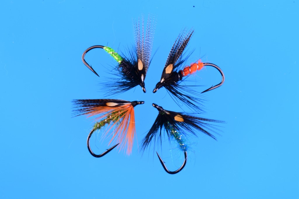 An assortment of favorite summer steelhead flies you will find in my shirt pocket.